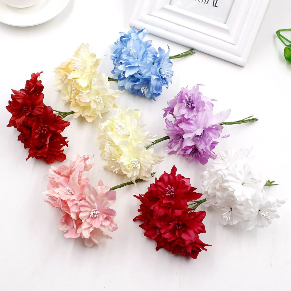6 pieces 5cm orchid artificial flowers bouquet silk lily flower for 6 pieces 5cm orchid artificial flowers bouquet silk lily flower for wedding crown scrapbooking decoration flowers in artificial dried flowers from home izmirmasajfo