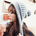 Autumn and winter women 's hats skullies Korea lovely cute wool ball knit hats Warm Blended Wool caps leisure hats MZ-13#