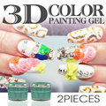 RS 2016 DIY Polish 3D UV Gel Sculpture Gel for nails Art Tip base Creative Beauty Decorations Manicure Nail Gel Polish kit