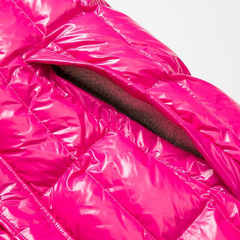Femmes nong Manteau Rouge Sans Blanc Pu Doudoune Manche Plus Longues Parka Brillant Femme Very Épais Hommes D'hiver Rose Canard 1Eq7dC1w
