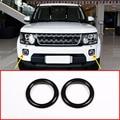 2 шт. черная ABS Хромированная Автомобильная передняя противотуманная фара украшение кольцо Накладка для Land Rover Discovery 4 2014-2016 LR4