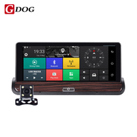 New 3G Video recorder DVR Rear view Android 5.0 GPS Bluetooth FM WIFI Dual Lens rearview mirror Camcorder Dash cam dvrs