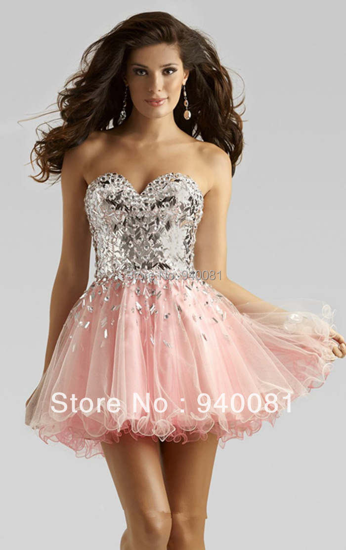 Aliexpress.com : Buy Pink Crystals Beaded Ball Gown Sweetheart ...