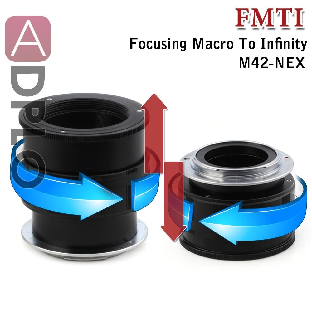Adaptateur de lentille Macro à infini réglable pour objectif M42 adapté à l'appareil photo Sony E Mount NEX