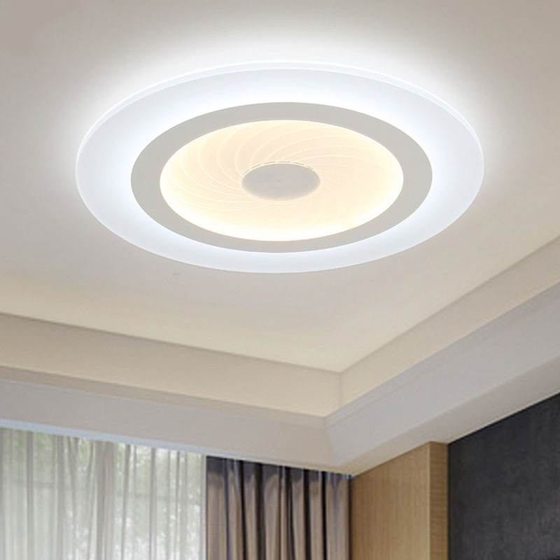 modern led ceiling lights acrylic ultrathin living room ceiling lights bedroom decorative lampshade lamparas de