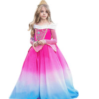 Girls Sleeping princess dress 2019 Halloween Girls Aurora & rapunzel & Ariel Cosplay Costume Kids Beauty Party Dress for girls