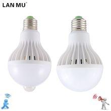 ULTRON LED Bulb Motion Sensor Lamp 220V Led Bulb 9W E27 Sound+Light Auto Smart Led Infrared Body Lamp With Motion Sensor Lights