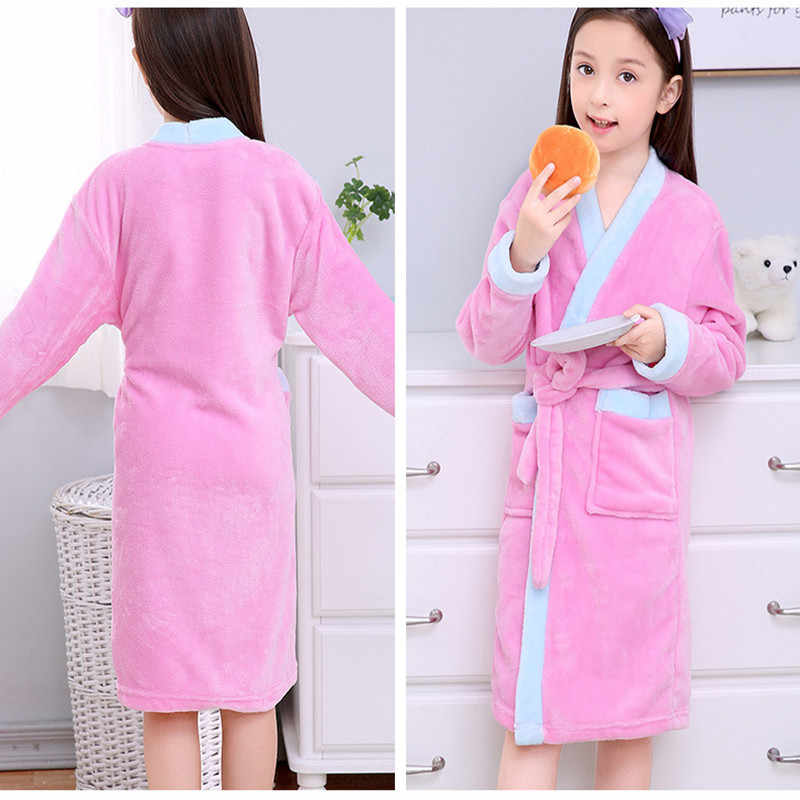 ... Children Bathrobes for Boys Velvet Sleepwear Baby Robes Pajamas for  Girls Clothes Teens Striped Pijamas Kids ... 53aaf8d39