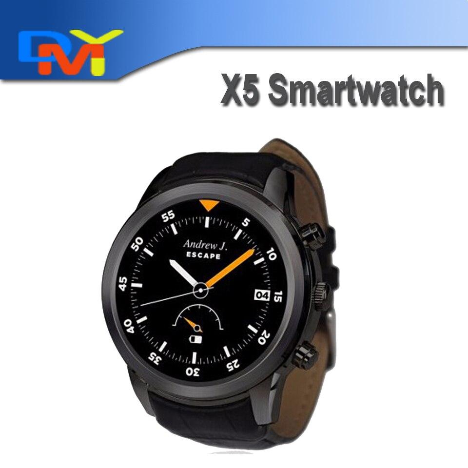 2016 New X5 1 4 Circle 3G Android Smart watch K18 Plus intelligent Clock font b