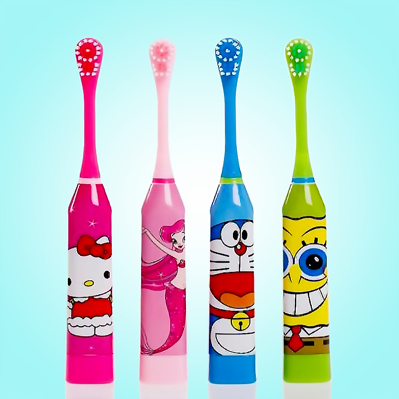 Children Electric Toothbrush Cute Cartoon Pattern Oral Hygiene Electric Massage Teeth Care Children Kids image