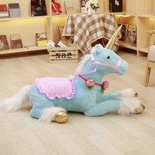 1pc 100cm Huge Cute Unicorn Horse Plush Toys Colorful Stuffed Animal Doll for Children Creative Birthday Kids Gifts Girls