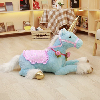 1pc 100cm Huge Cute Unicorn Horse Plush Toys Colorful Stuffed Animal Doll for Children Creative Birthday Kids Gifts for Girls
