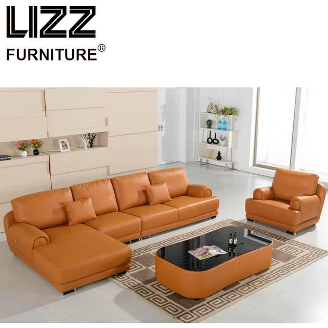 Corner Sofas Loveseat Leather Sofa Chair Sofa Para Sala Living Room Luxury  Furniture Classic Miami Design Feather Sofa Set