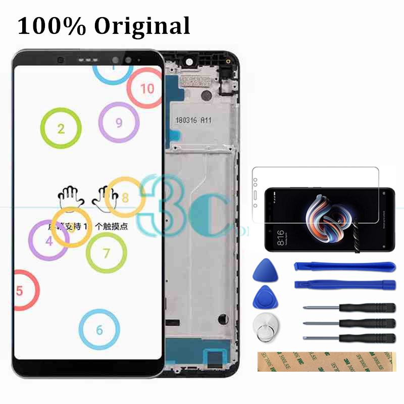 Original Xiaomi Redmi Note 5 Pro LCD Display Screen Frame Redmi Note5 Pro Digitizer Assembly Replacement