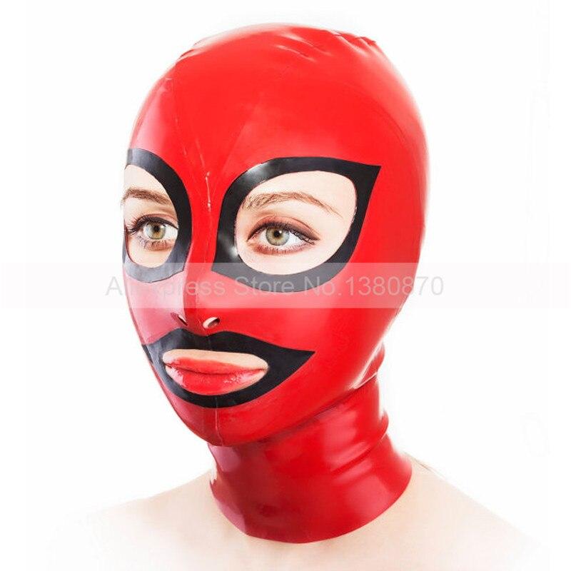 Гумові латексні маски червоного і - Костюми