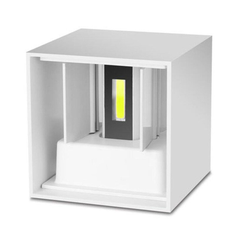 8w 10w Dimmable Led Wall Light Waterproof Cube Adjustable Surface Mounted Outdoor Indoor Led Lighting Up Down Led Wall Lamp