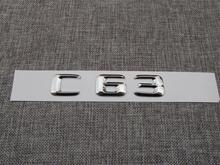 ABS Plastic Car Trunk Rear Letters Badge Emblem Decal Sticker for Mercedes Benz C Class C63
