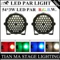 2 ШТ./ЛОТ 54X3 W LED PAR свет RGBW DMX512 par led диско свет LED par лампы профессиональных DJ оборудование