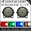2PCS/LOT  54 X 3W LED PAR light RGBW DMX512 par led disco lights  LED par lamp of professional DJ equipment