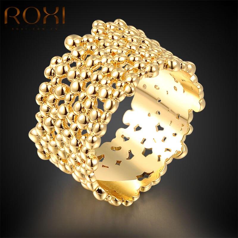 ROXI Top Bagues-anillos de Color dorado para mujer, joyería de moda, regalo de anillos de boda, bisutería corporal