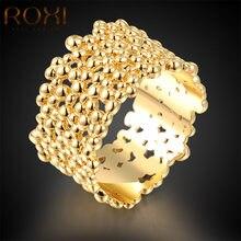 ROXI Top Bagues Femme Gold Farbe Ringe Für Frauen Geschenk Neue Mode Schmuck Frauen Mädchen der Hochzeit Ringe Geschenk Körper bijoux
