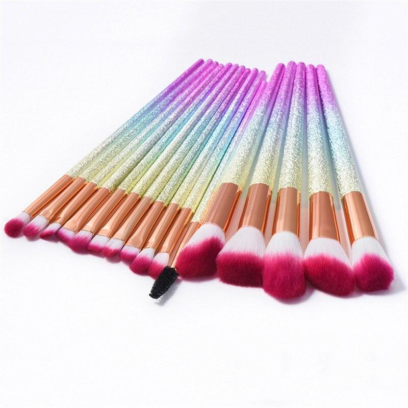 16Pcs Scrub Glitter Makeup Brush Set Eye Shadow Eyebrow Eyelash Brush Foundation Powder Lip Concealer Brush Cleaner речь 978 5 9268 0898 5