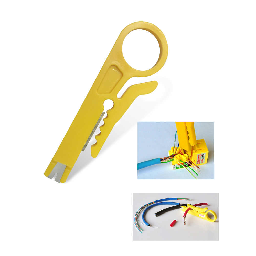 Portable Wire Stripper Knife Crimper Pliers Crimping Tool Cable Stripping Wire Cutter Crimpatrice Tool Parts Pocket Multitools