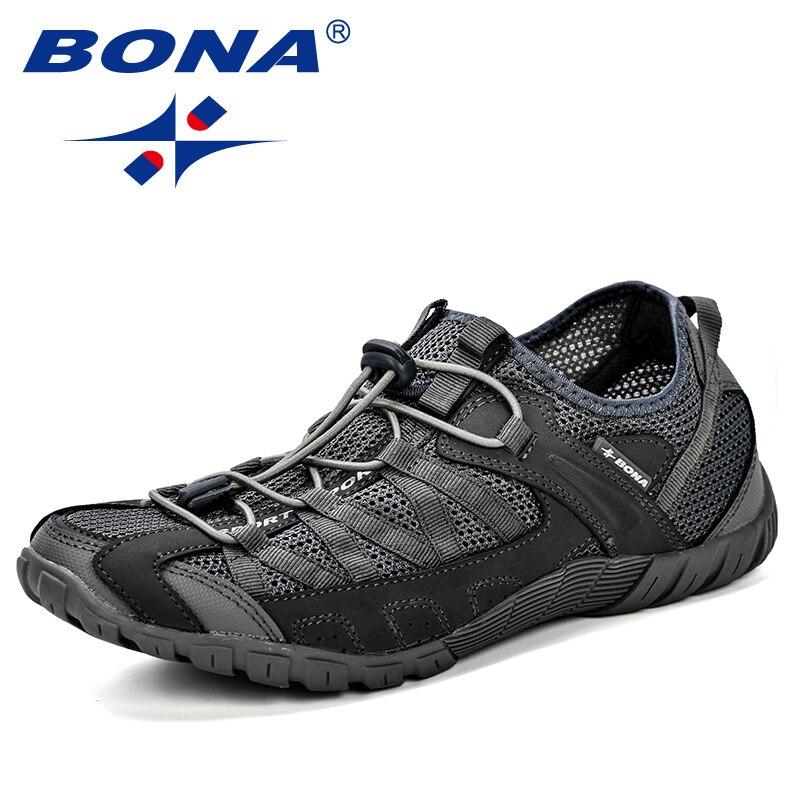 BONA Summer Sneakers Breathable Men Casual Shoes Fashion Men Shoes Tenis Masculino Adulto Sapato Masculino Men Leisure Shoe 2