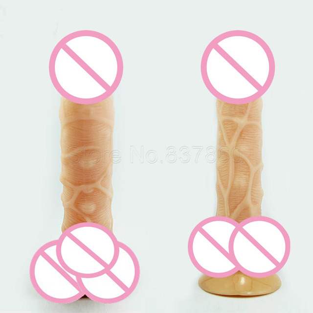 Silicone Flexible Penis Dick With Strong Suction Cup Huge Dildos Cock