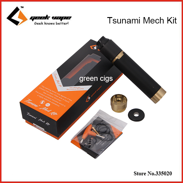 Original Geekvape Tsunami Mech Kit With Black Ring Plus Mechanical Mod with Tsunami Pro 25 RDA Tank