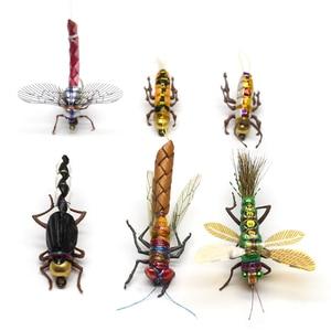 Image 3 - 현실적인 플라이 낚시 파리 세트 16/18pcs 마른 젖은 파리 곤충 유혹베이스 낚시 구색 플라이 낚시 송어 루어 키트