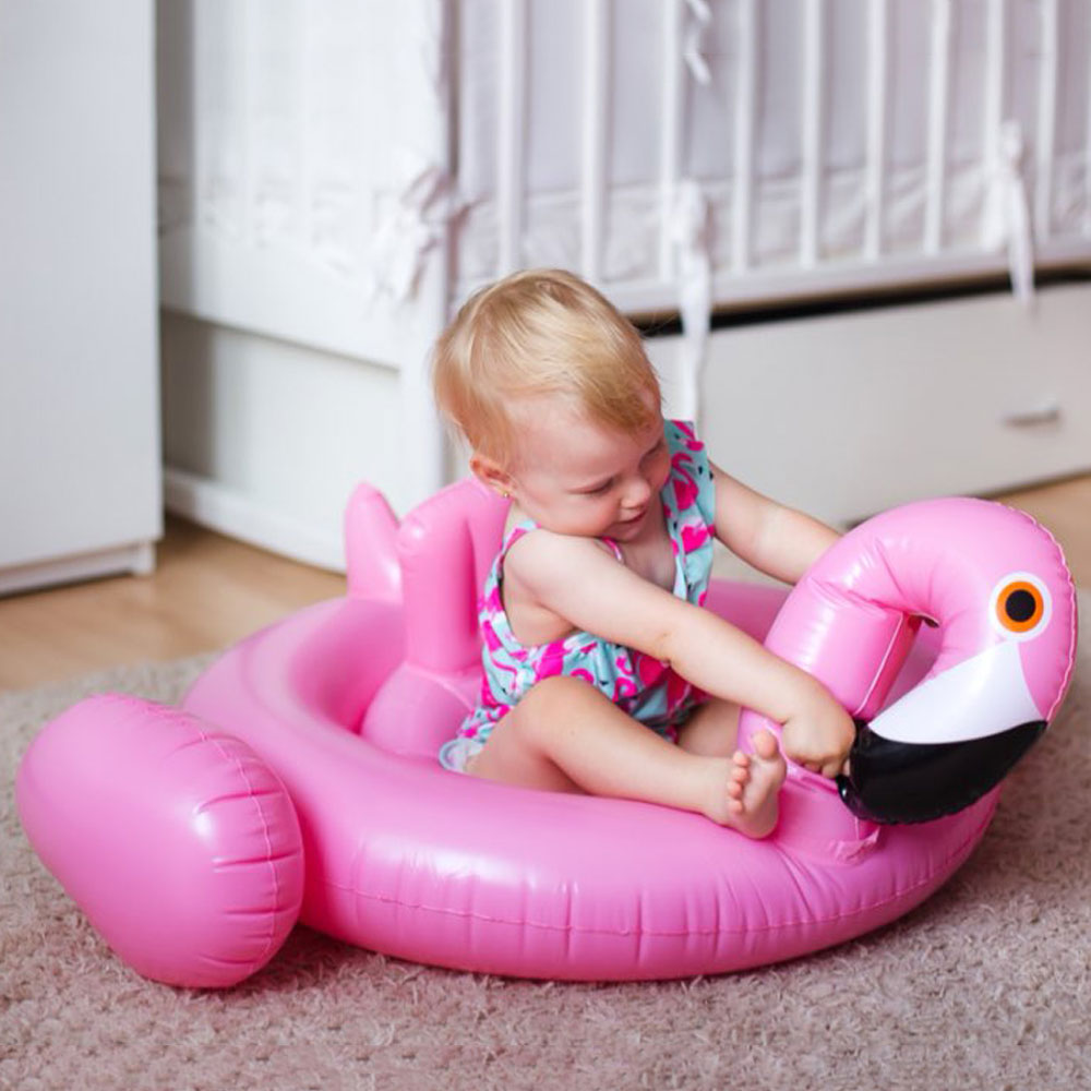 kinsmirat Inflatable Flamingo Pool Float Circle Mattress Swimming Swan Swim Ring Seat Boat Raft Summer Water Fun Pool Toys