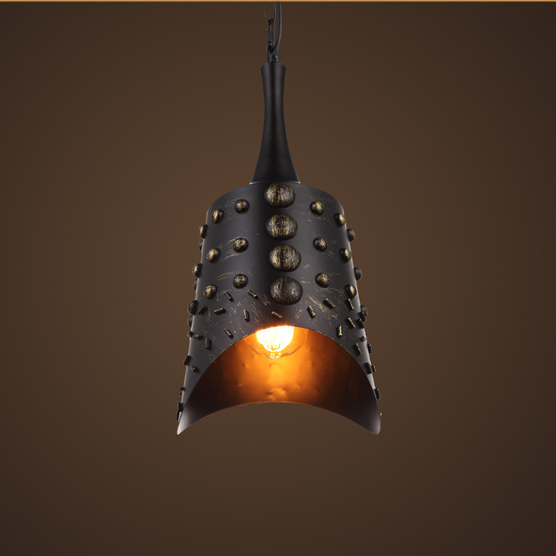 Loft Vintage Retro Iron pendant lamp bells hanging light headlight cafe bar living room bedroom corridor aisle restaurant light american living room hanging lamp retro copper balcony bedroom lights corridor aisle entrance bar restaurant glass pendant lamps