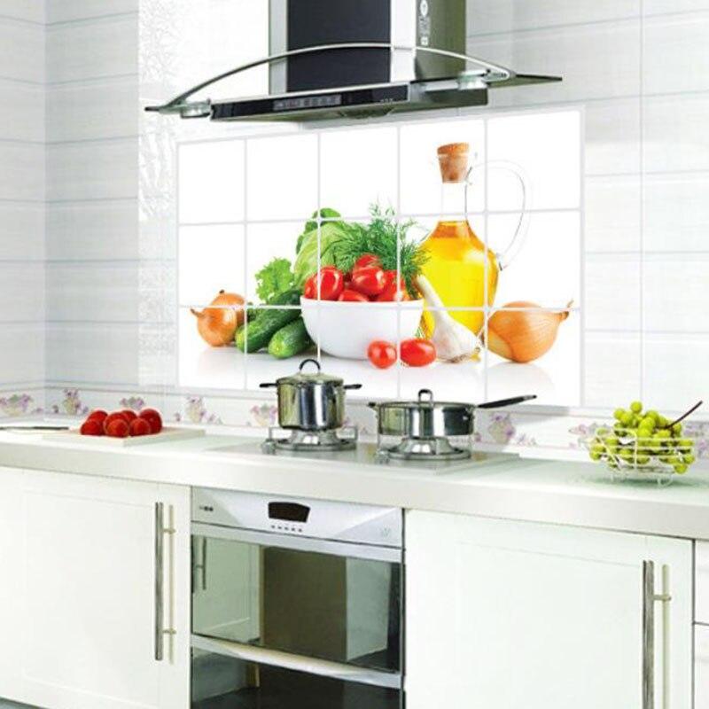 Nova 3D DIY oljna kuhinja Nalepka za stene Zeleno Sadje Freska - Dekor za dom - Fotografija 6