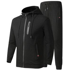 Image 2 - גברים של אימונית אביב סתיו כותנה ספורט חליפות זכר מקרית סטי סווטשירט + מכנסיים בגדים באיכות אסיה גודל L 6XL