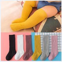 Сезон: весна–лето Хлопковые гольфы для маленьких девочек Однотонные Карамельный цвет для детей ясельного возраста, Комплект детских носок двойной вязки короткие носки для детей