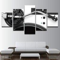 Modular Pictures Decoração Da Sua Casa Tela HD de Impressão 5 Peça de Música Instrumento Consola DJ Mixer Pintura Sala Arte Da Parede Poster quadro