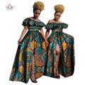 BRW Africano Dashiki Imprimir Conjuntos de Falda Bazin Riche Ruffles Crop superior y Faldas Ropa Africano para Las Mujeres de Dos Piezas Conjunto WY808
