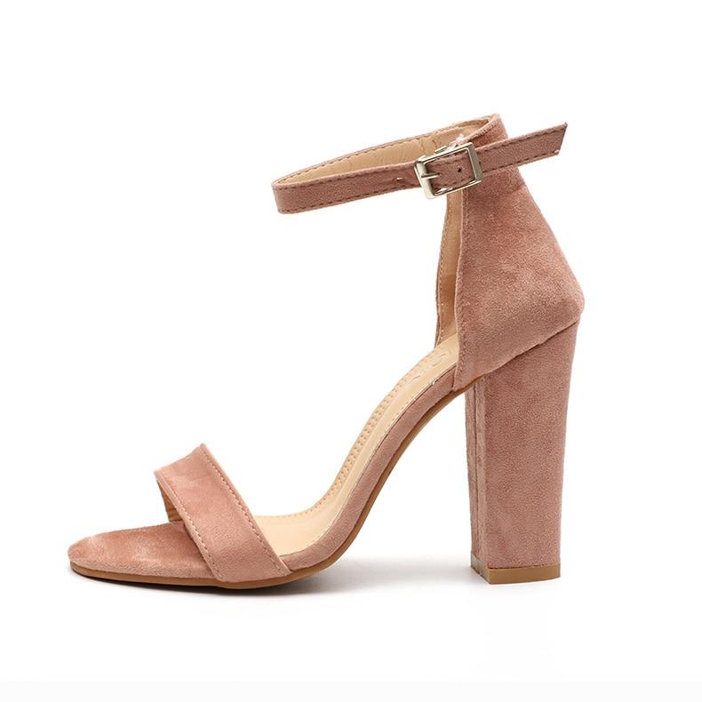 HTB1alB8biLrK1Rjy1zdq6ynnpXah Women Sandals Ankle Strap Summer Shoes Woman High Heels Sandals Plus Size 43 Chaussures Femme Open Toe Women Summer Sandals