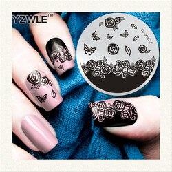 1 stck verschiedene arabesque blume muster nail art stempel vorlage bild yzwle nagel - Nagel Muster