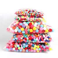 500-1000pcs 8/10/15/20/25/30mm Mini Fluffy Soft Pom Poms Pompoms Ball Handmade Kids Toys Wedding Decor DIY Sewing Craft Supplies