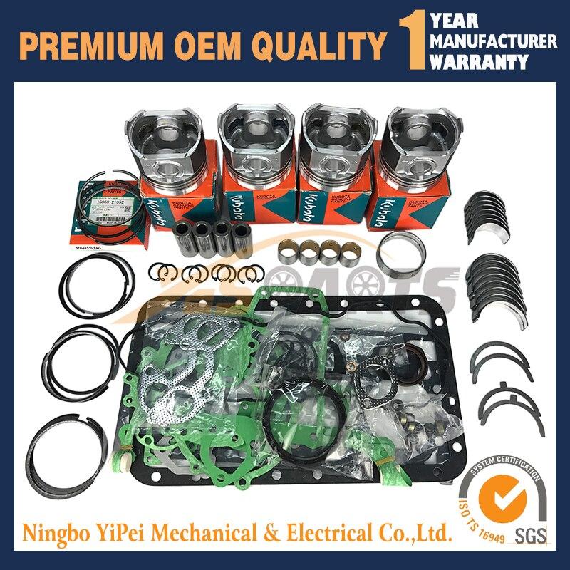 Diesel engine parts indirect injection V2203 V2403 Cylinder Head For