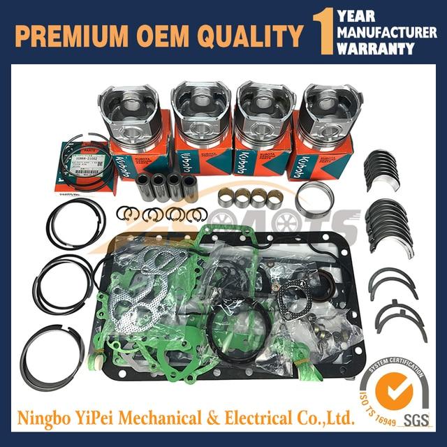 Overhaul Rebuild Kit For Kubota V2203 V2203b V2203t Engine Bobcat