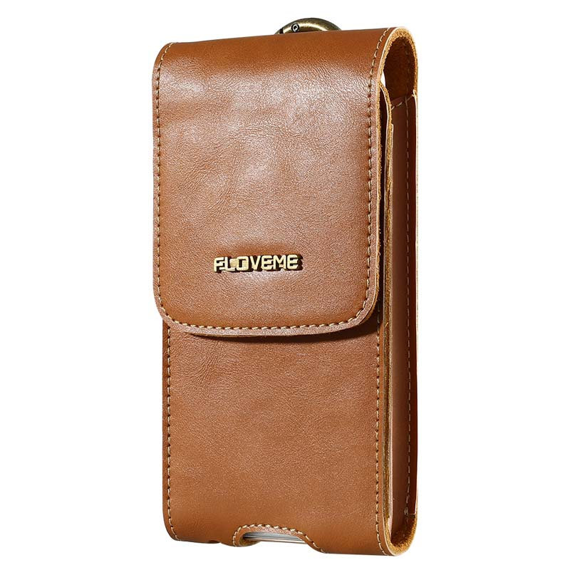 Floveme Mobile Phone Bag Genuine Leather Anti knock Retro Case Full Protective Cover Men Women Generic