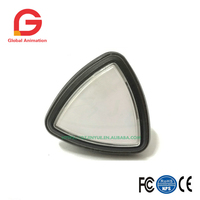 2 PCS 45mm Exported Triangle Push Button LED Light White Color Euro Version Micro Switch