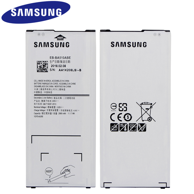 SAMSUNG EB-BA510ABE For Samsung GALAXY A510 2016 A5 2016 Version Authentic Phone Battery 2900mAh Replacement Phone Battery