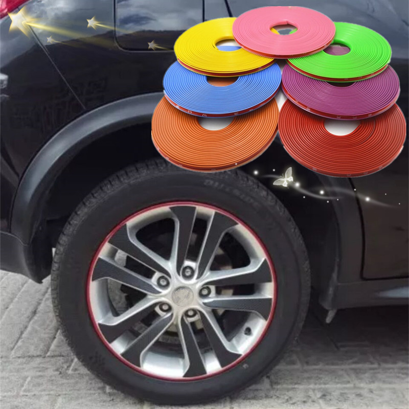Hot8M/ Roll New Styling IPA Rimblades Car Vehicle Color Wheel Rims Protectors Decor Strip Tire Guard Line Rubber Moulding Trim image