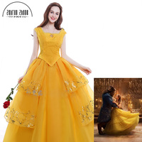 Custom Made Beauty And The Beast Belle Princess Cosplay Costume For Adults Women Beautiful Dress Costume