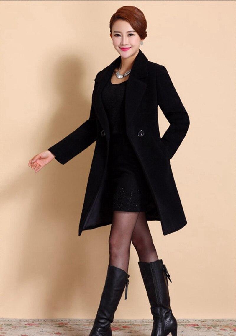 Wool Coat Female Fashion Women Woolen Coats High-end Elegant Long Slim Winter Jacket Royal Coats&Jackets Plus Size Femininos 4XL 14