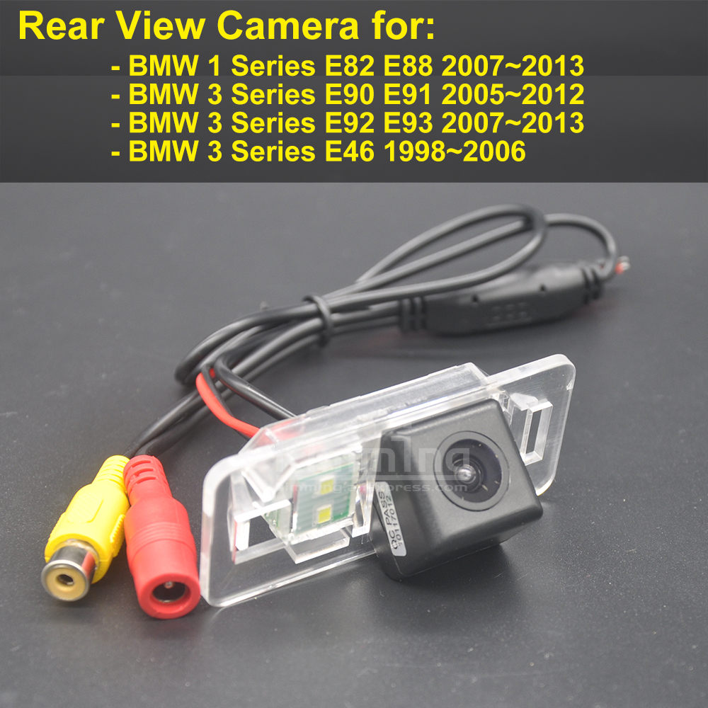 Car Rear View Camera for BMW 1 Series E82 E88 3 Series E90 E91 E92 E93 E46 Wireless Reversing Parking Backup Camera HD CCD